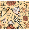 Seashells seamless vector image
