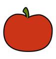 tomato slice cartoon vector image