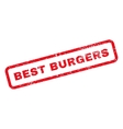 Best Burgers Text Rubber Stamp vector image