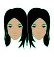 Twin girl as gemini vector image