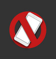modern sign - turn off the phone vector image