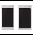 two realistic mobile devices vector image