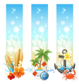 3 travelling banners vector image