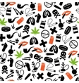 smoking seamless pattern vector image