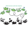 Grass and flowers cartoon - game for children vector image