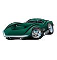 American Classic Sports Car Cartoon vector image