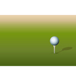Golf ball on tee vector image vector image