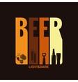 beer label design background vector image