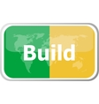 build word on web button icon isolated on vector image