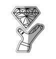 Diamond luxury jewerly vector image