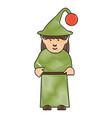 elf girl icon vector image