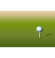 Golf ball on tee vector image