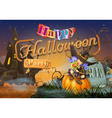 Happy Halloween party witch background vector image