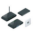 Isometric Wi-Fi wireless router vector image