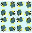Seamless pattern from swimming fishes vector image