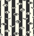 Striped seamless eye pattern in the bohemian style vector image