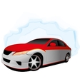 Two color fast car vector image