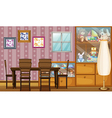 A house full of toys and frames vector image
