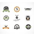 Farm food icons labels and badges vector image vector image