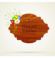 Wooden frame easter vector image