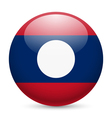 A badge in colours of Laos flag vector image vector image