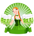 Saint Patricks Day Girl vector image vector image