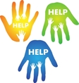 Helping Hands Concept vector image