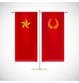 Two flags on a stand vector image