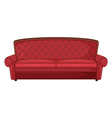 A red sofa vector image