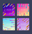 bright abstract placard design template - set of 4 vector image