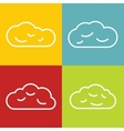 Cloud line icons on color background vector image