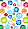 colored gemstone saturated color seamless pattern vector image