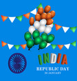 indian republic day celebration vector image