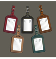 Leather luggage tags labels vector image