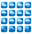 Weather blue icons vector image
