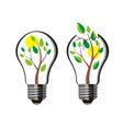 Tree Light Bulb vector image vector image