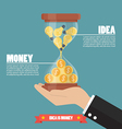 Idea is money infographic vector image vector image