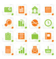 stylized business and office realistic internet vector image vector image