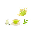 tea ceremony flat concept flat isolated vector image