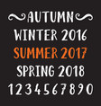 four seasons lettering vector image