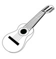 isolated banjo silhouette vector image