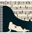 music greeting with grand piano vector image