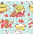 Strawberry jam seamless pattern vector image vector image
