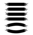 A Set of Beautiful Black Empty Banners vector image