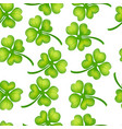 background of green clover vector image