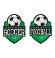 labels of soccer and football vector image