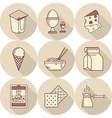 Lunch line icons vector image