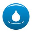 water drop icon blue vector image