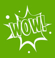 wow explosion effect icon green vector image