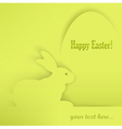 easter eggs rabbits green shadow 10 v vector image vector image